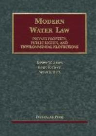 Adler, Craig and Hall's Modern Water Law