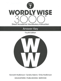 Wordly Wise 3000: Book 7 Answer Key (4/E)