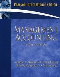 Management Accounting 5/E