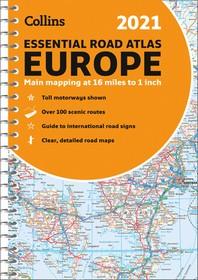 [해외]2021 Collins Essential Road Atlas Europe