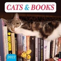 [해외]Cats & Books 2022 Wall Calendar