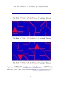 조셉콘라드의 어둠의 심연.The Book of Heart of Darkness, by Joseph Conrad