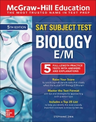 McGraw-Hill Education SAT Subject Test Biology E/M, Fifth Edition