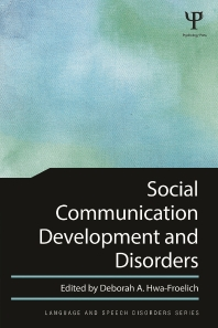 [해외]Social Communication Development and Disorders