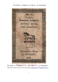 어린이를위한 길들인동물들.The Book of Domestic animals, by Anonymous