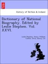 [해외]Dictionary of National Biography. Edited by Leslie Stephen. Vol. XXVI. (Paperback)