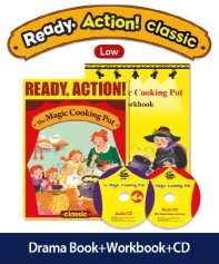 Pack-Ready Action Classic(Low): The Magic Cooking Pot [SB+WB+CD](CD2장포함)(전2권)