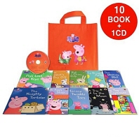 페파피그 Peppa Pig : Orange Bag [10 books & 1 CD]