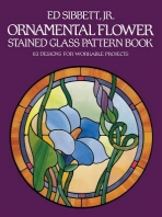 [해외]Ornamental Flower Stained Glass Pattern Book