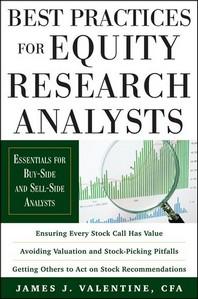 [해외]Best Practices for Equity Research Analysts