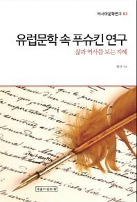 유럽문학 속 푸슈킨 연구(러시아문학연구 3)
