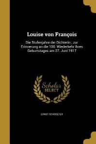 [해외]Louise Von Francois (Paperback)