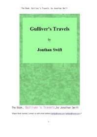 걸리버 이야기. The Book, Gulliver's Travels, by Jonathan Swift