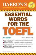 Barron's Essential Words for the Toefl, 4/e