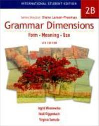 GRAMMAR DIMENSIONS. 2B