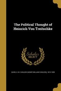[해외]The Political Thought of Heinrich Von Treitschke (Paperback)