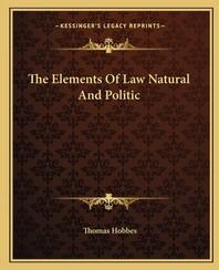 [해외]The Elements of Law Natural and Politic