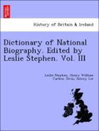 [해외]Dictionary of National Biography. Edited by Leslie Stephen. Vol. III (Paperback)