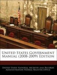 [해외]United States Government Manual (2008-2009) Edition (Paperback)