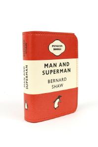 [펭귄] 카드지갑 Man and Superman (Red)
