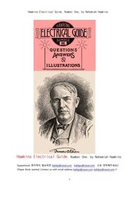 호킨스 전기의 안내서.Hawkins Electrical Guide, Number One, by Nehemiah Hawkins