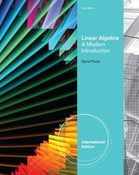 Linear Algebra  -A Modern introduction