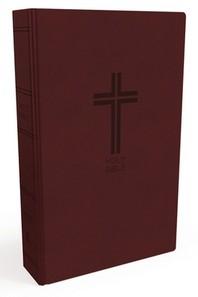 [해외]NKJV, Value Thinline Bible, Standard Print, Imitation Leather, Burgundy, Red Letter Edition (Imitation Leather)