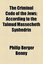 [해외]The Criminal Code of the Jews; According to the Talmud Massecheth Synhedrin