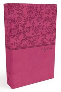 [해외]NKJV, Value Thinline Bible, Standard Print, Imitation Leather, Pink, Red Letter Edition (Imitation Leather)