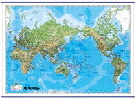 The World(세계지도)(영문)(코팅)(걸이용)