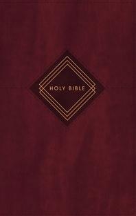 [해외]Niv, the Grace and Truth Study Bible, Personal Size, Leathersoft, Burgundy, Red Letter, Comfort Print (Imitation Leather)