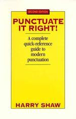 [해외]Punctuate It Right