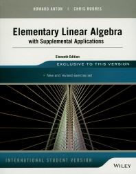 [해외]Elementary Linear Algebra With Supplemental Applications
