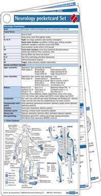 [해외]Neurology Pocketcard Set
