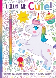 [해외]Color Me Cute! Coloring Book with Rainbow Pencil