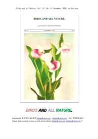 새들과 자연의 식물 동물. Birds and all Nature, Vol. VI, No. 4, November 1899, by Various