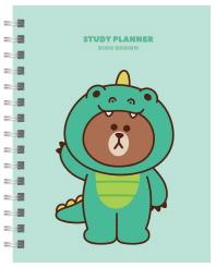 Line Friends Study Planner(라인 프렌즈 스터디 플래너): 다이노 브라운(스프링)