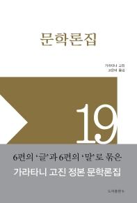 문학론집(가라타니 고진 컬렉션 19)(양장본 HardCover)