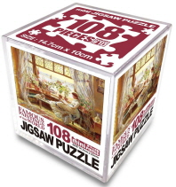 명화 직소퍼즐 108p 미니: 창가의 책 읽는 소녀