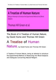 데이비드 흄의 인간 본성人間本性에 관한 논고論考집.The Book of A Treatise of Human Nature, by David H