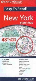 [보유]Rand Mcnally Easy to Read! New York State Map