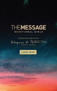 [해외]The Message Devotional Bible, Large Print (Softcover)