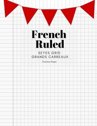 French Ruled Seyes Grid Grands Carreaux