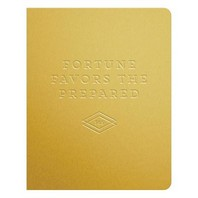 Fortune Favors the Prepared - Gold Deluxe Pocket Undated Planner