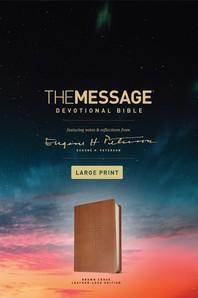 [해외]The Message Devotional Bible, Large Print (Leather-Look, Brown) (Imitation Leather)