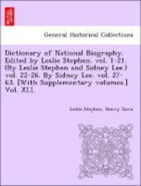 [해외]Dictionary of National Biography. Edited by Leslie Stephen. Vol. 1-21. (by Leslie Stephen and Sidney Lee.) Vol. 22-26. by Sidney Lee. Vol. 27-63. [Wit (Paperback)