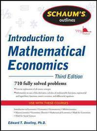 [해외]Schaum's Outline of Introduction to Mathematical Economics, 3rd Edition