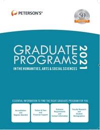 [해외]Graduate Programs in the Humanities, Arts & Social Sciences 2021