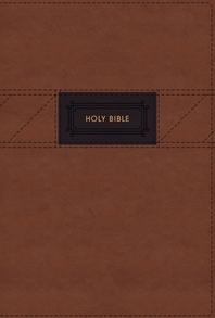 [해외]Niv, the Grace and Truth Study Bible, Large Print, Leathersoft, Brown, Red Letter, Comfort Print (Imitation Leather)