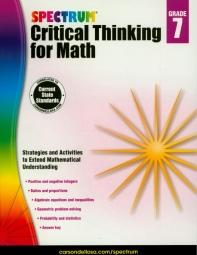 Spectrum Critical Thinking for Math Grade. 7